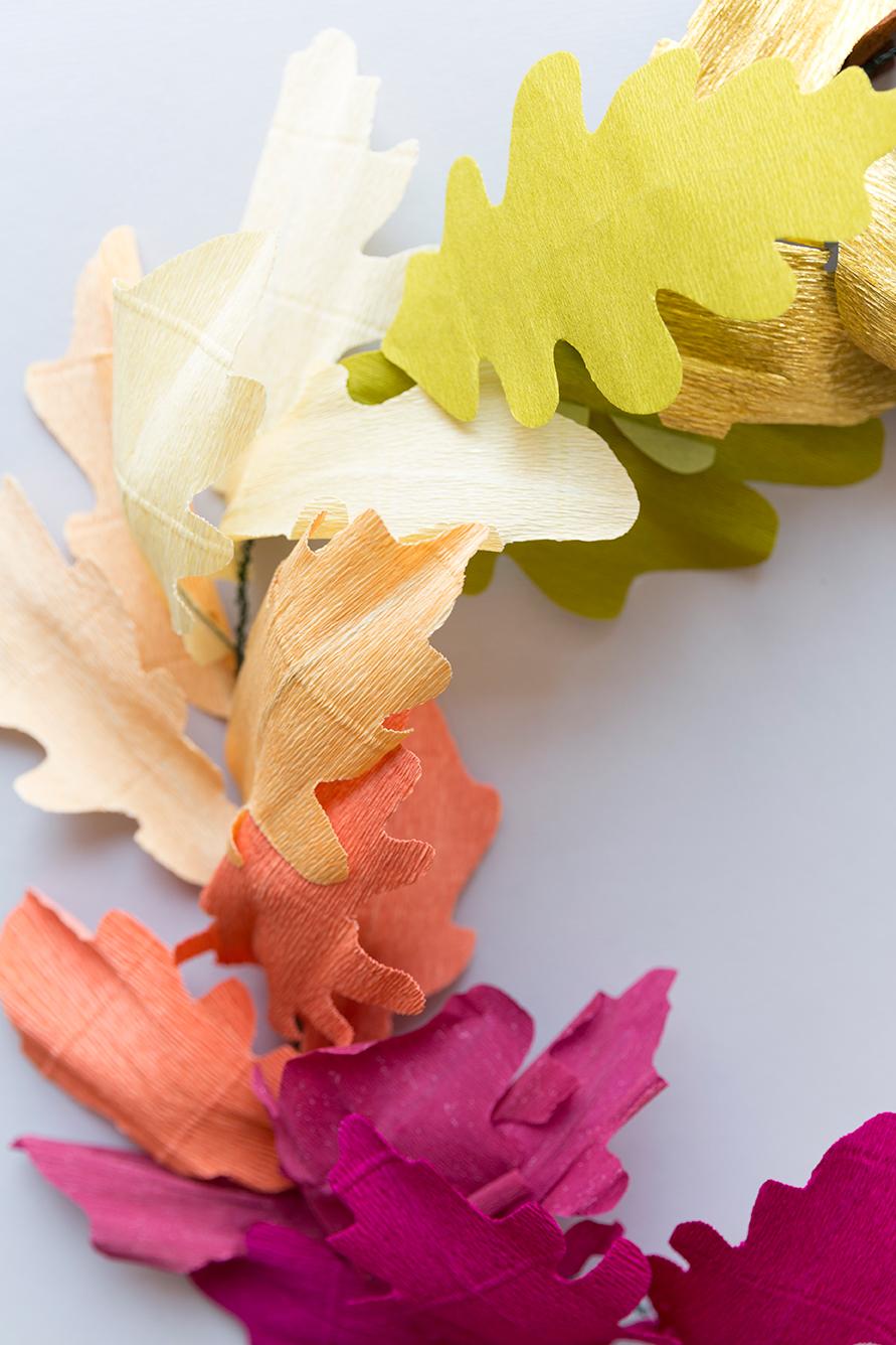 DIY paper fall garland