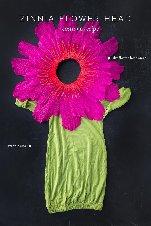 zinnia flower head costume