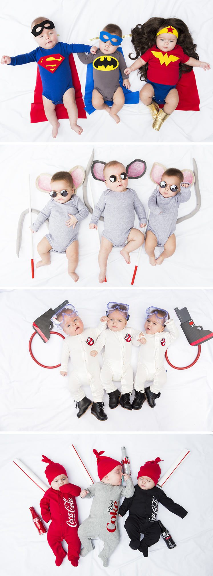 Cutest costumes for triplets