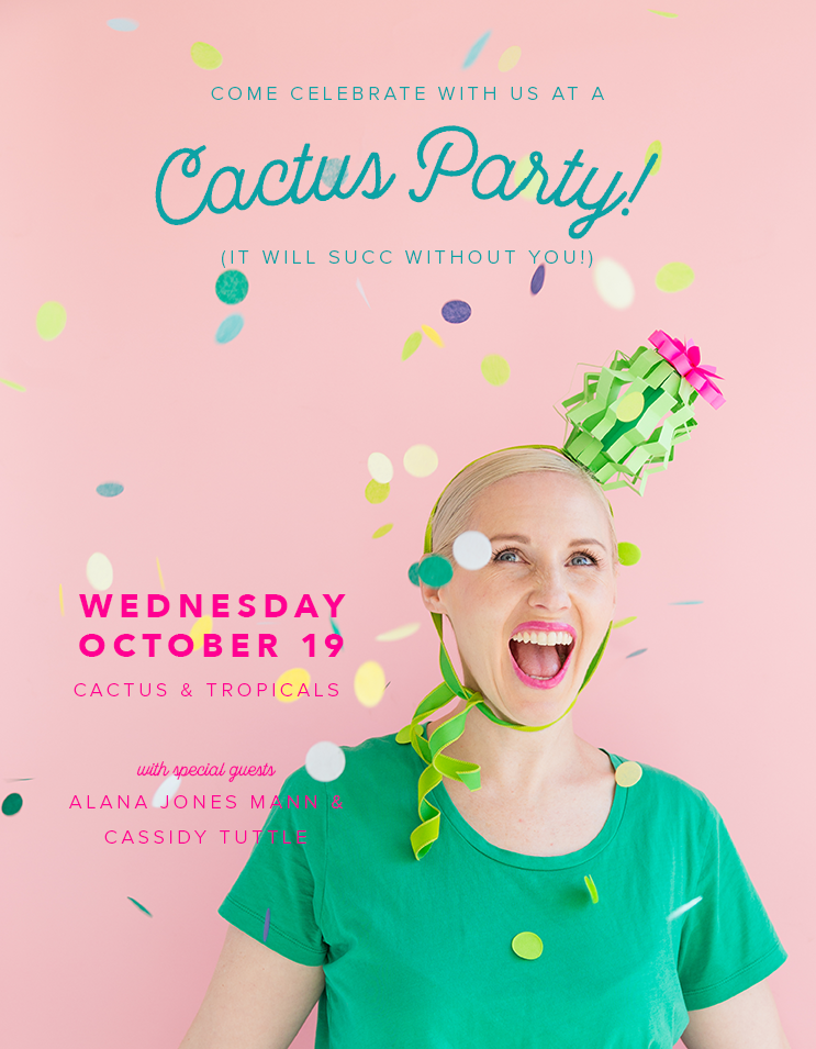 Cactus party coloring book release The House that Lars Built