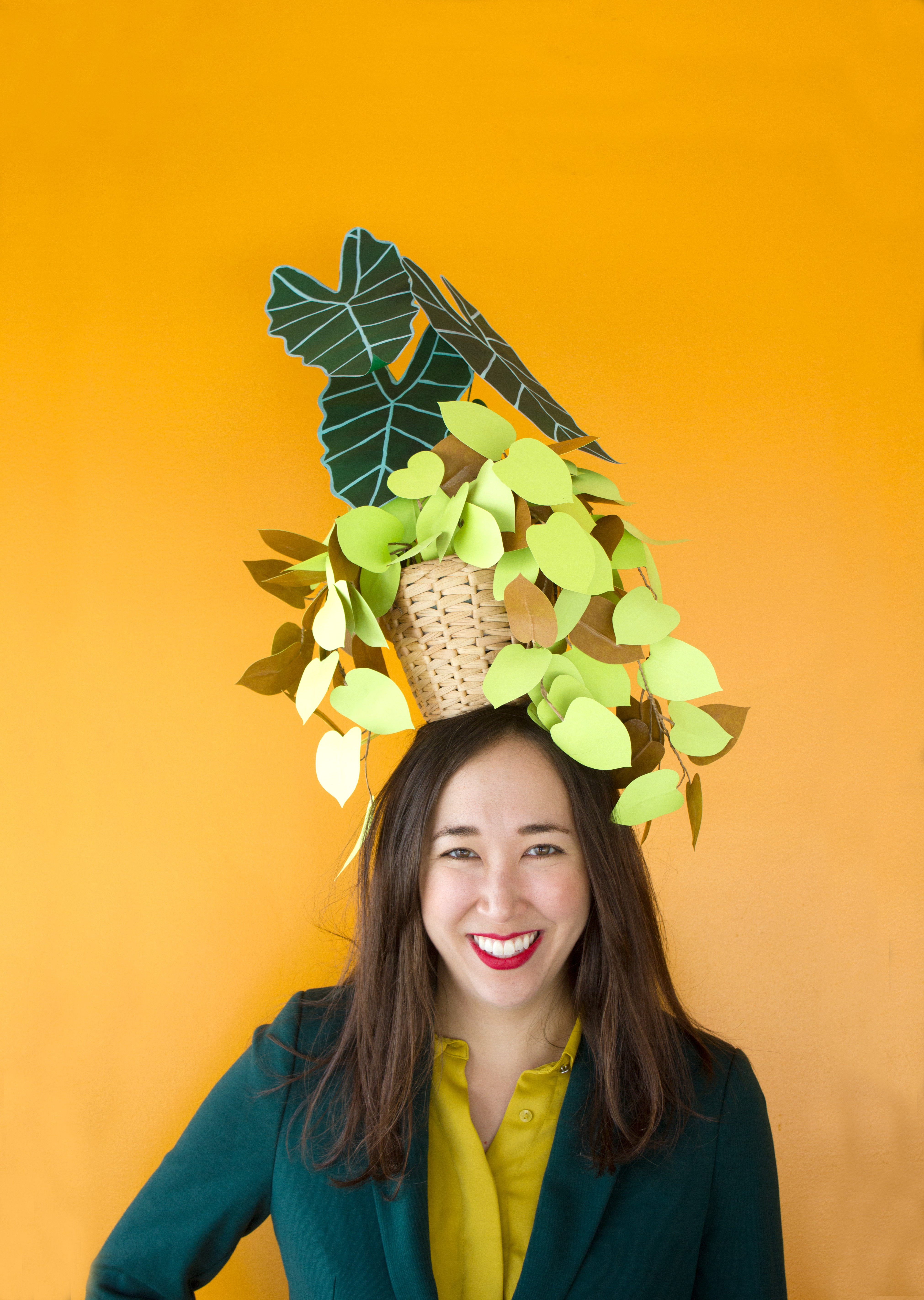 DIY potted plant hat