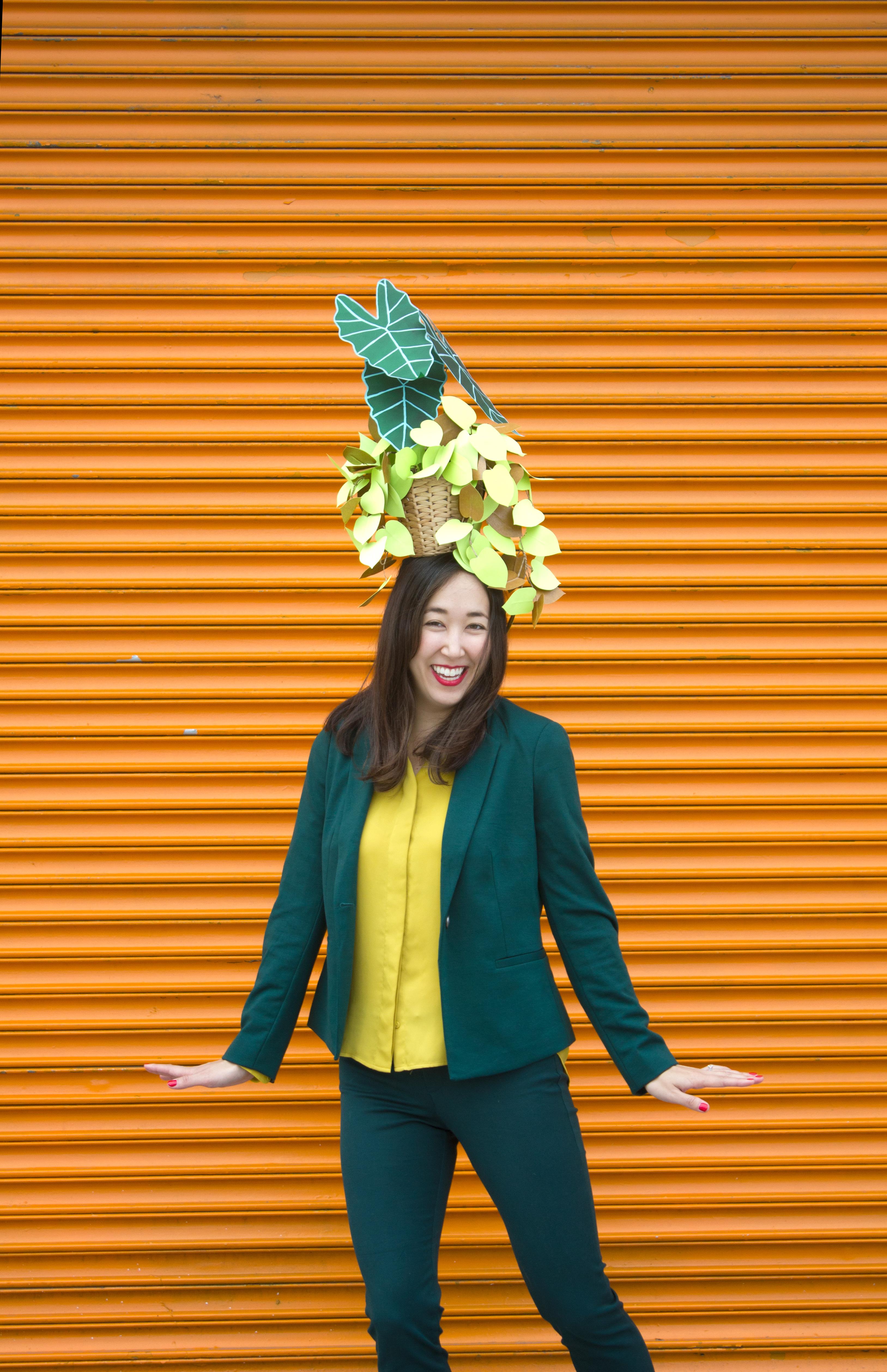 Plant hat costume