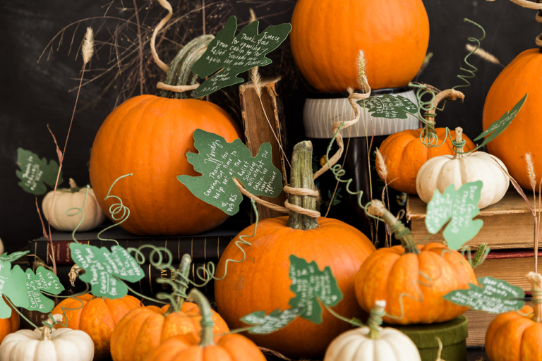 Pumpkin leaf favors