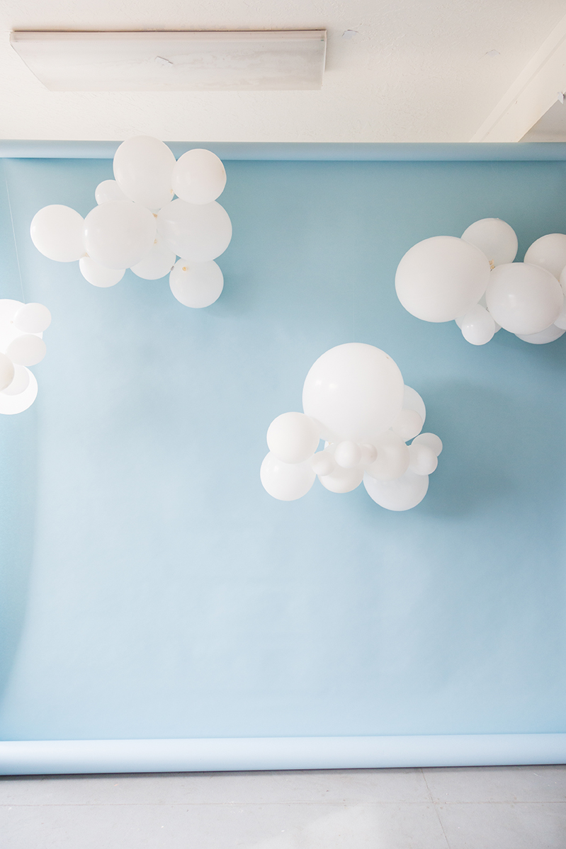 DIY cloud balloons