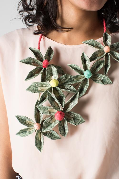 DIY money necklace