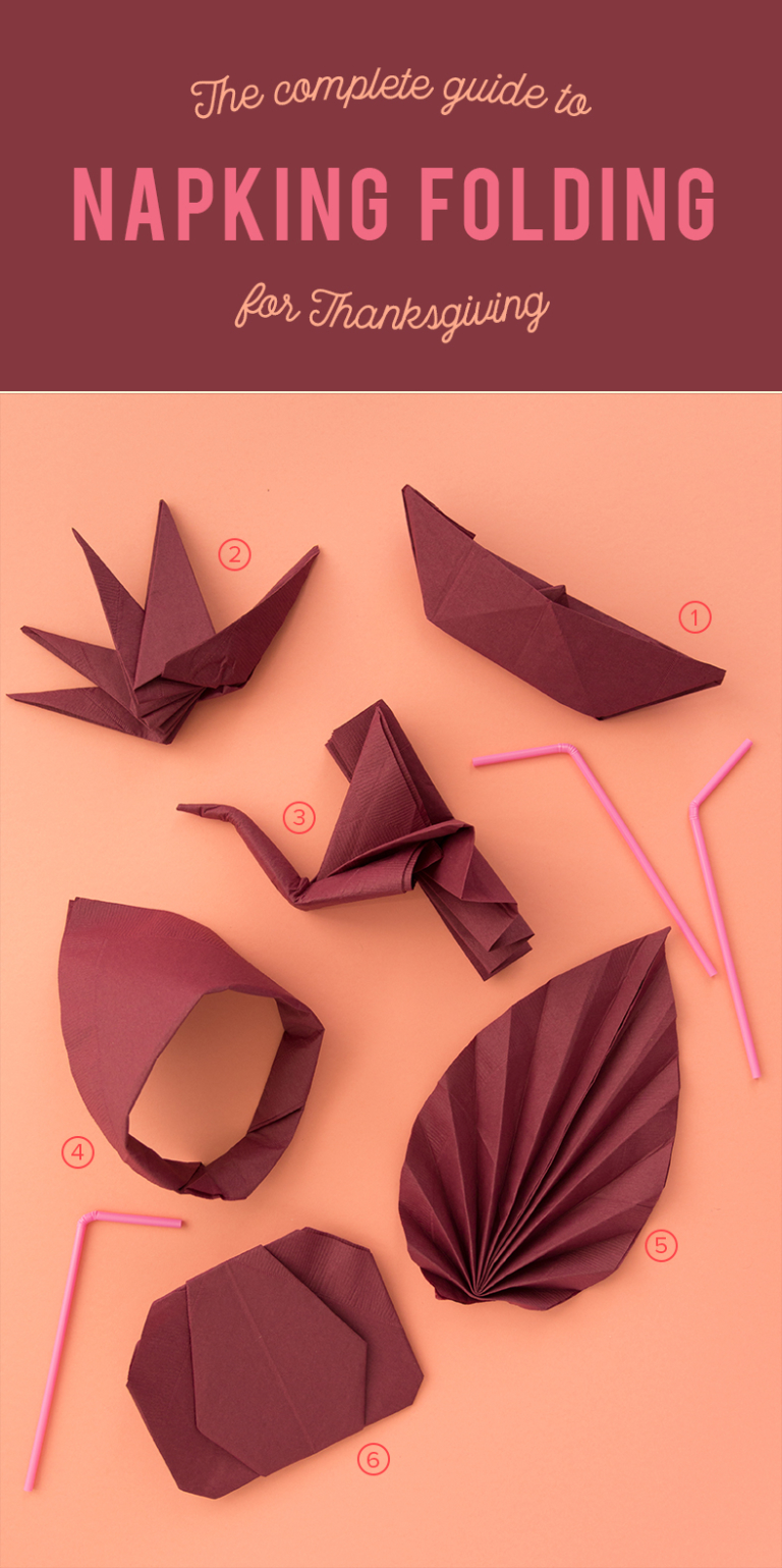 Guide to napkin folding for Thanksgiving