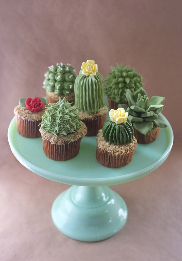 cactus cupcake video
