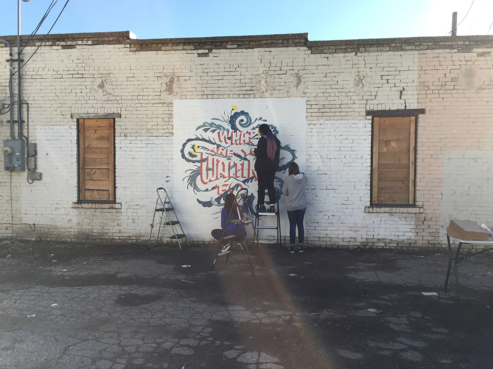 Lars mural with DOVE