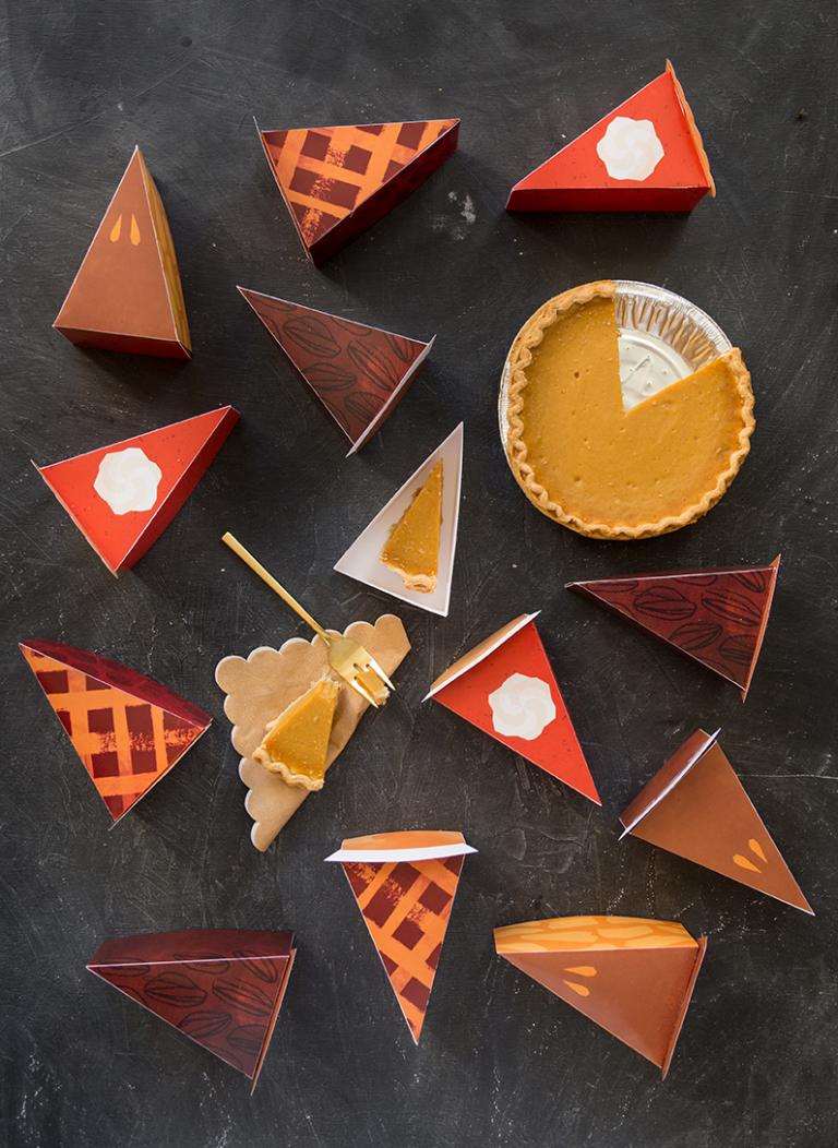 DIY Printable leftover Pie Boxes