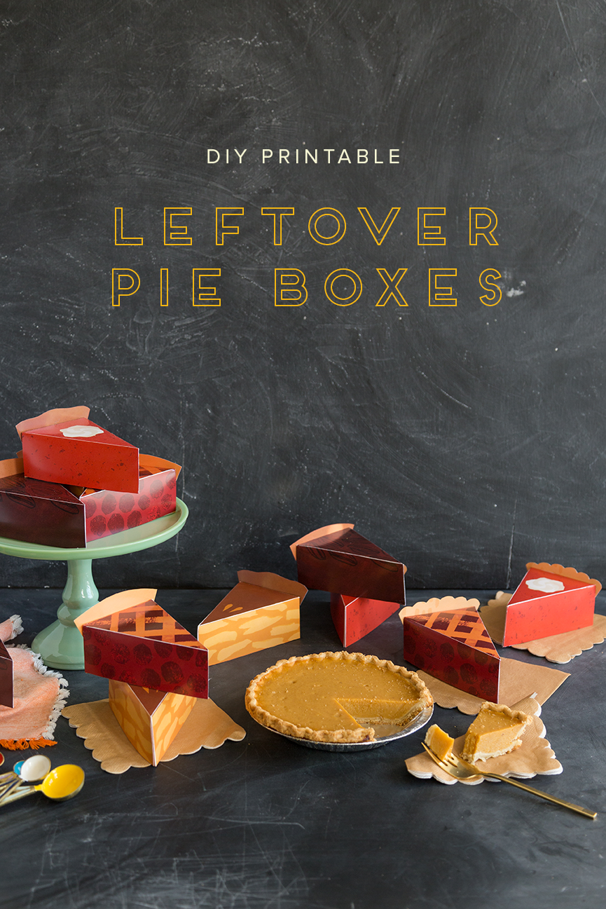 Leftover Pie Box Printable