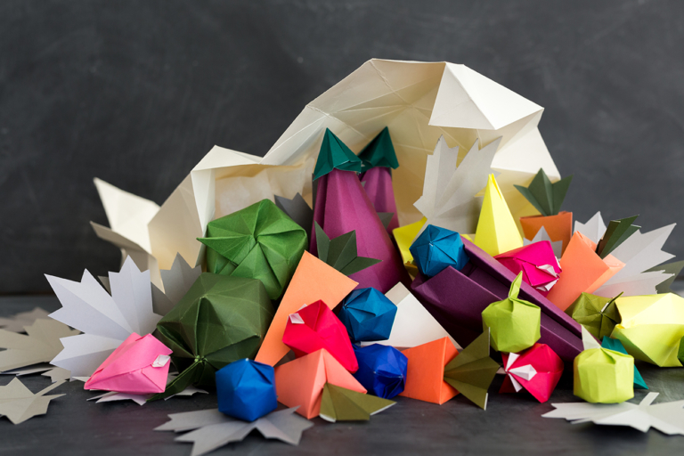 DIY Origami Cornucopia