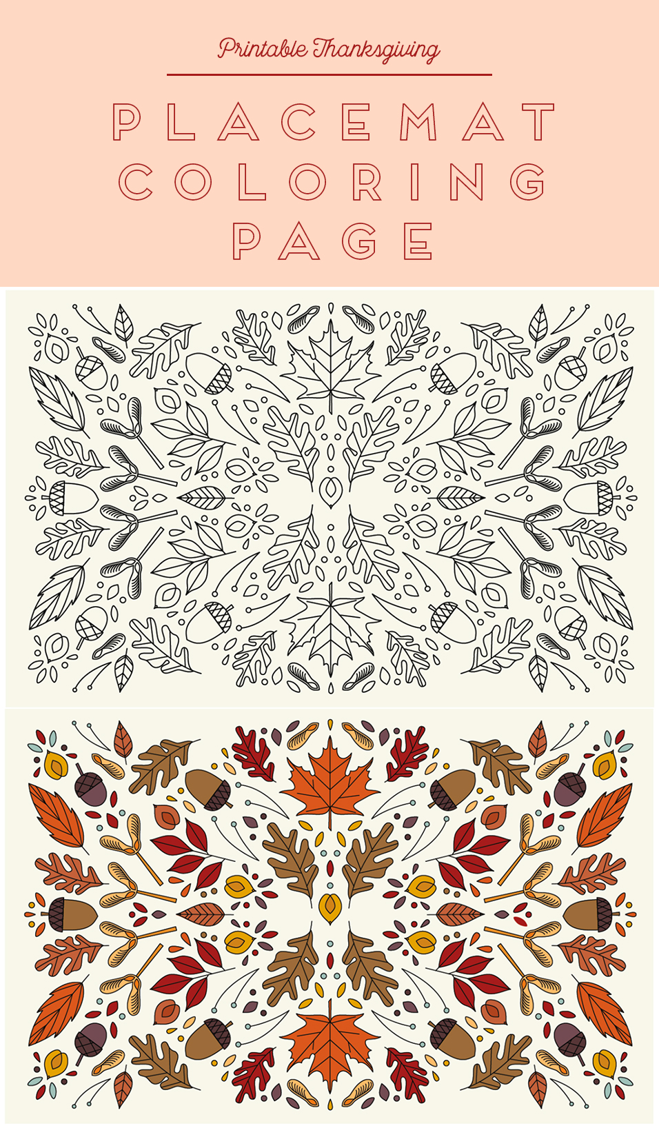 photo regarding Thanksgiving Placemats Printable identified as Printable Coloring Thanksgiving Placemats - The Place That