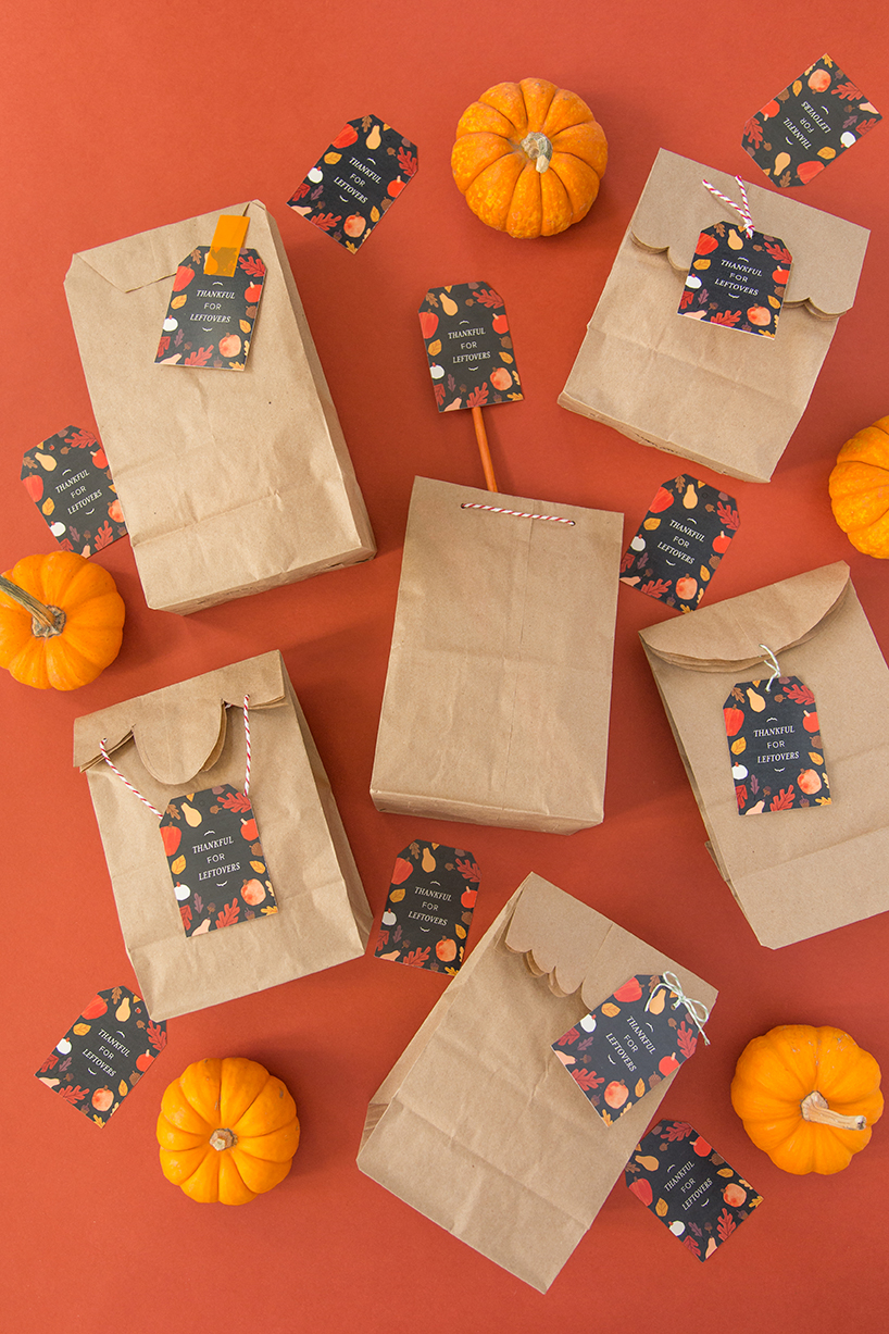 Printable Thanksgiving leftover tags