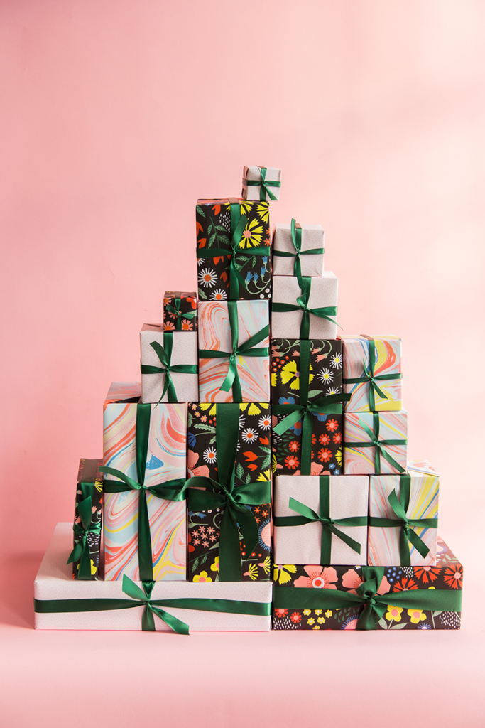 The House That Lars Built wrapping papers for Alexis Mattox Design