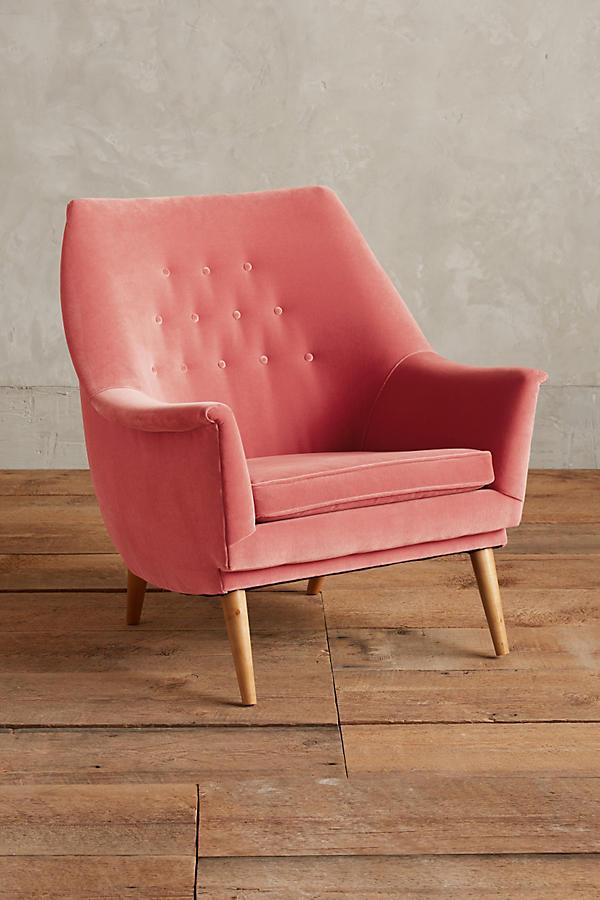 Velvet Anthropology Chair