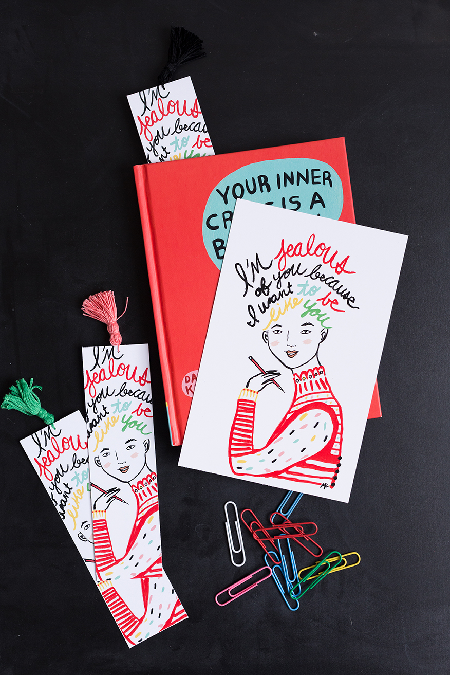 Your Inner Critic is a Big Jerk free printable bookmark from The House That Lars Built by Michelle Christensen