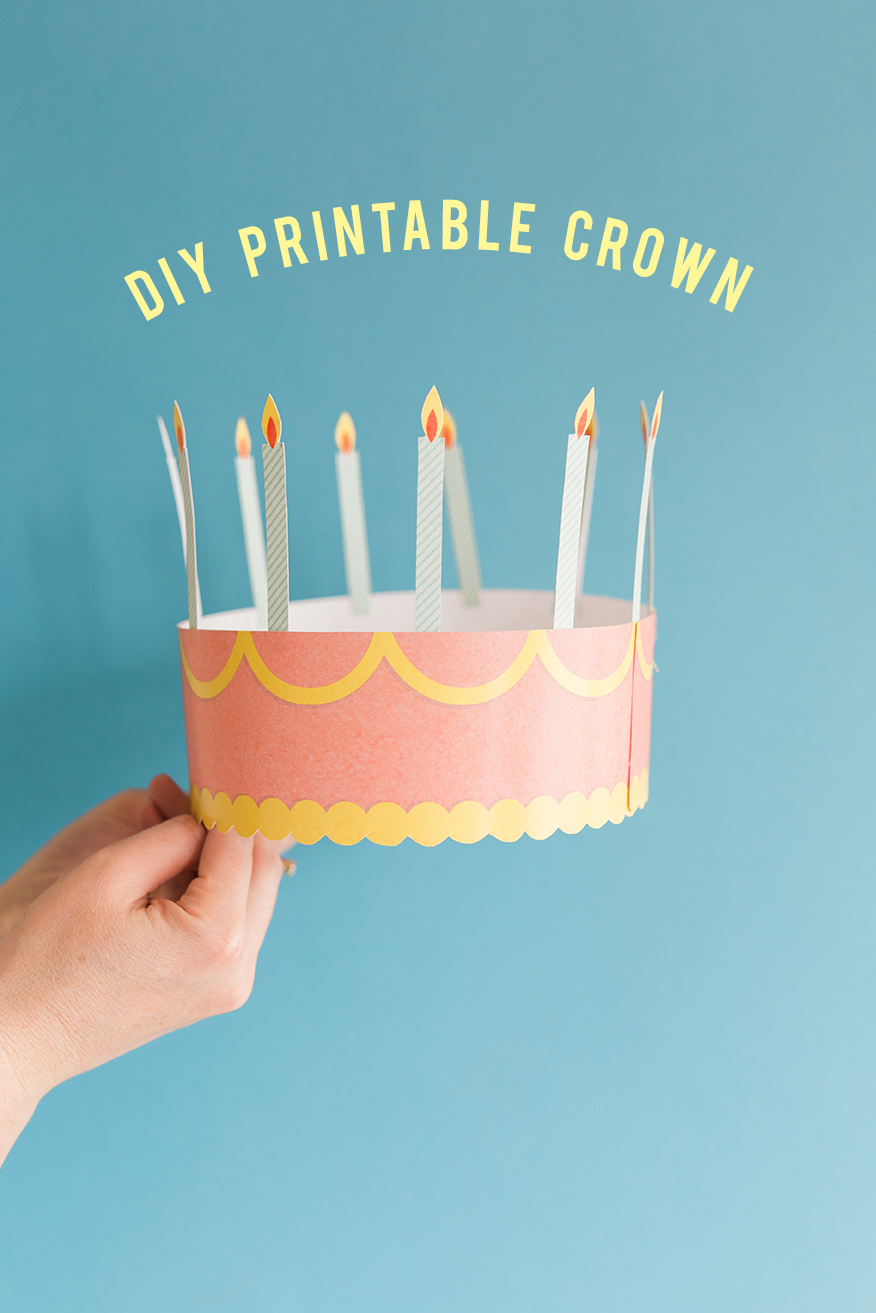 Dramatic image for printable birthday crown