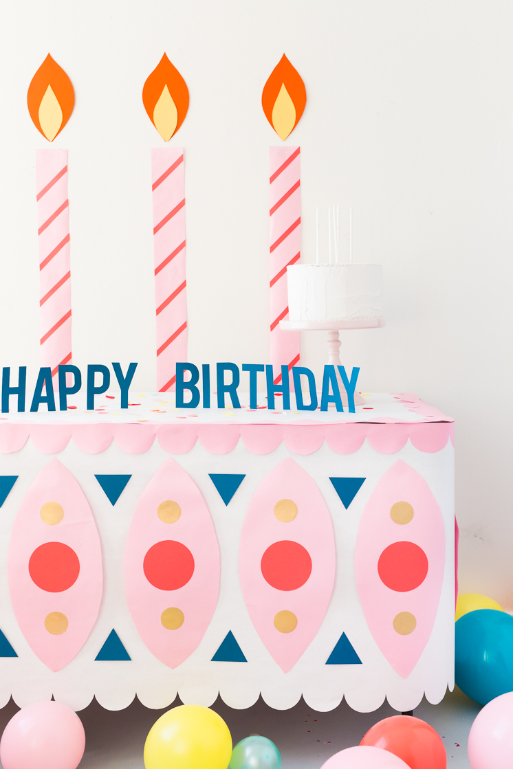 Birthday Cake Paper Tablecloth