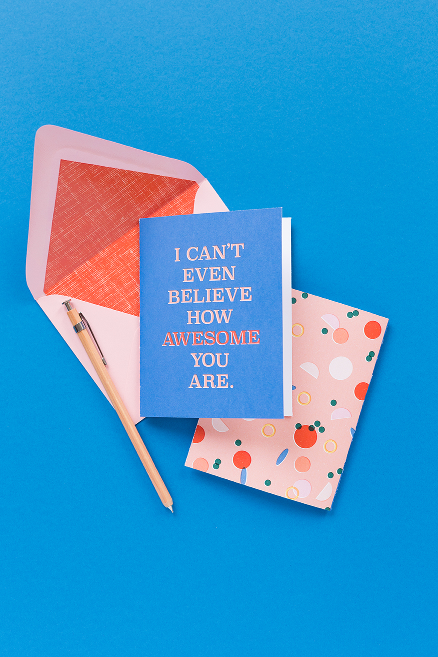 Awesome envelope liners and cards