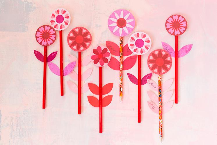 Printable Pencil Valentines