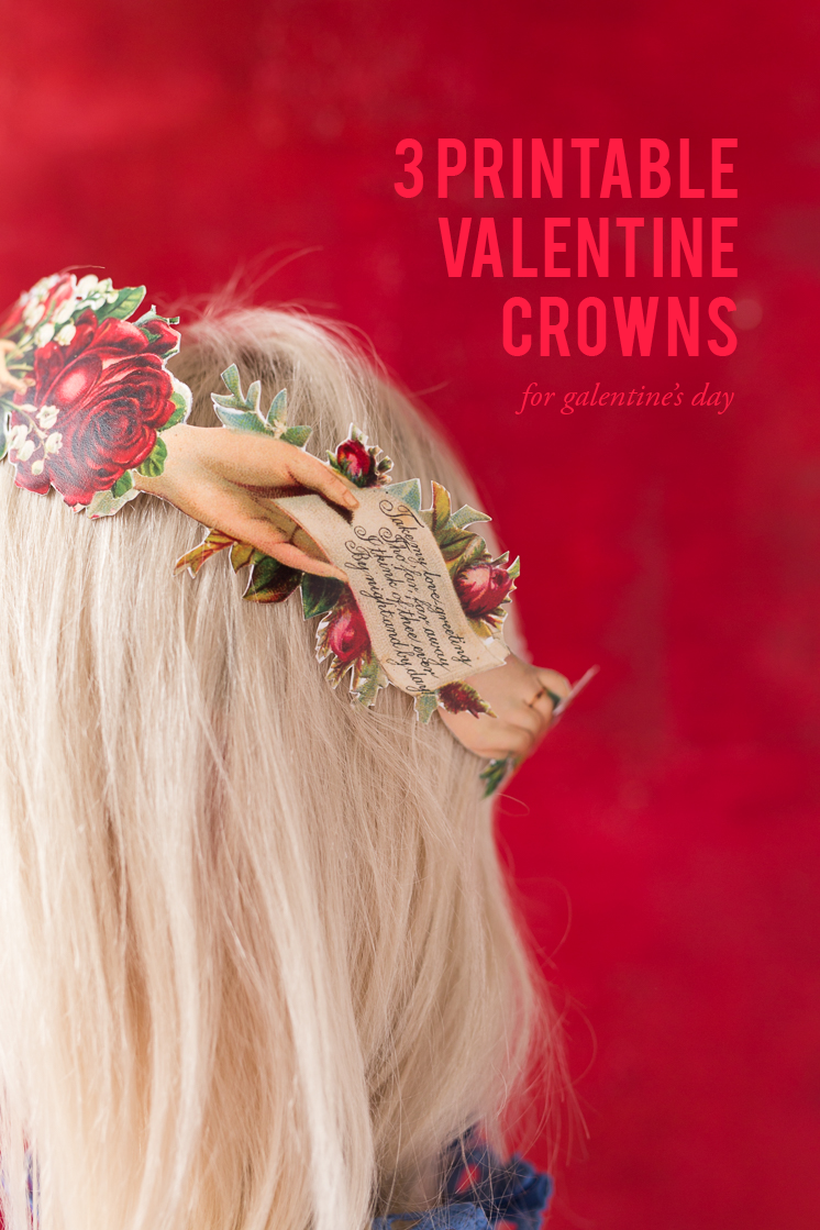 Valentine's Day Crown Printables