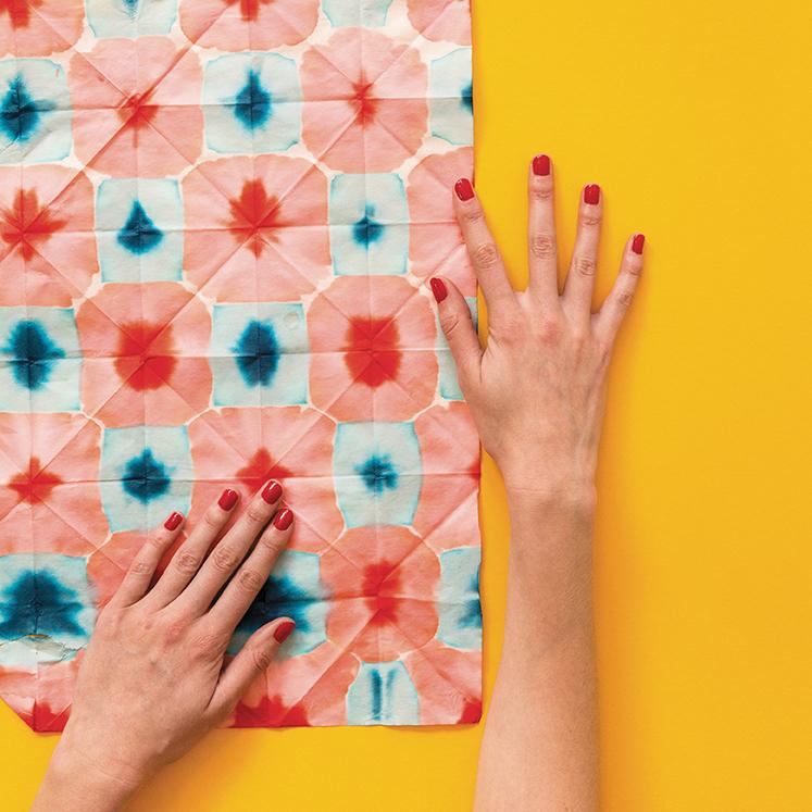 Dip dyed washi paper