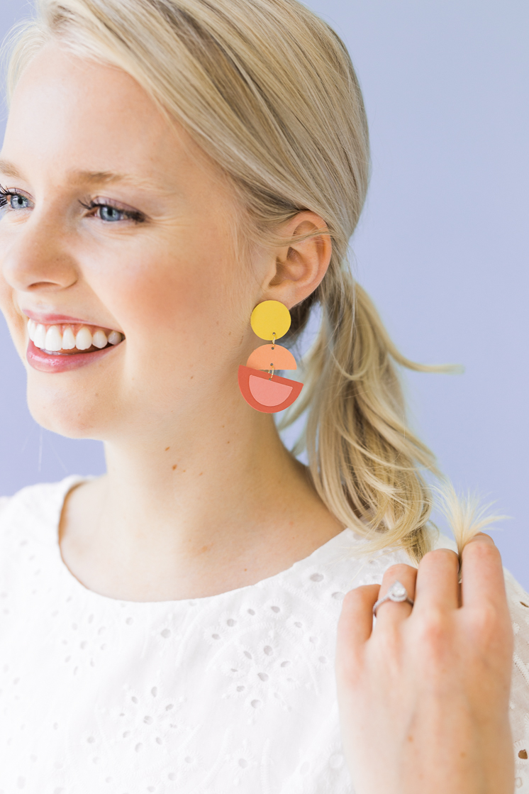 DIY Paper Earrings
