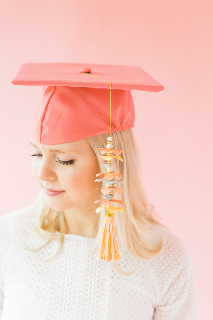 Paper Flower Graduation Tassel