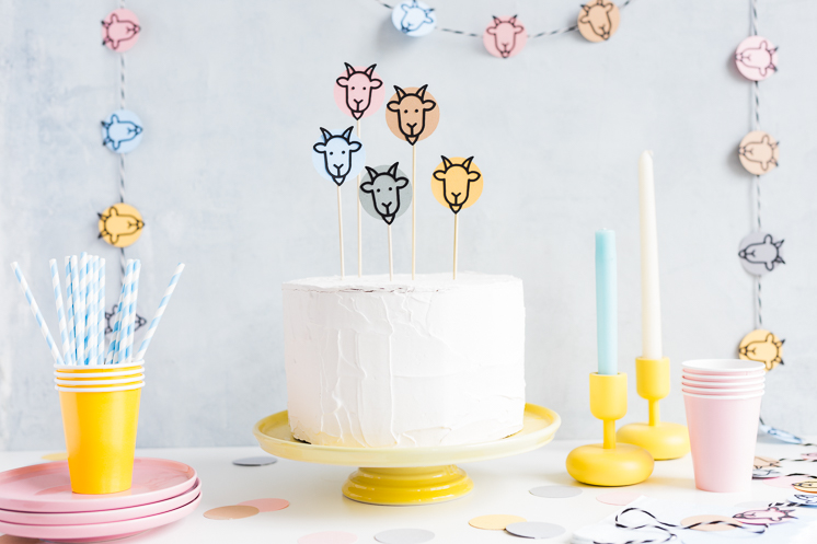 Gather for goats cake topper