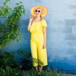 DIY Rainbow Painted Sun Hat