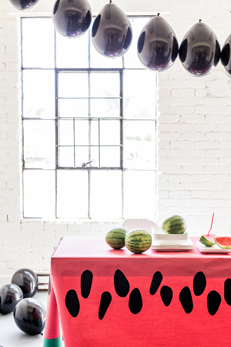 Paper Watermelon tablecloth