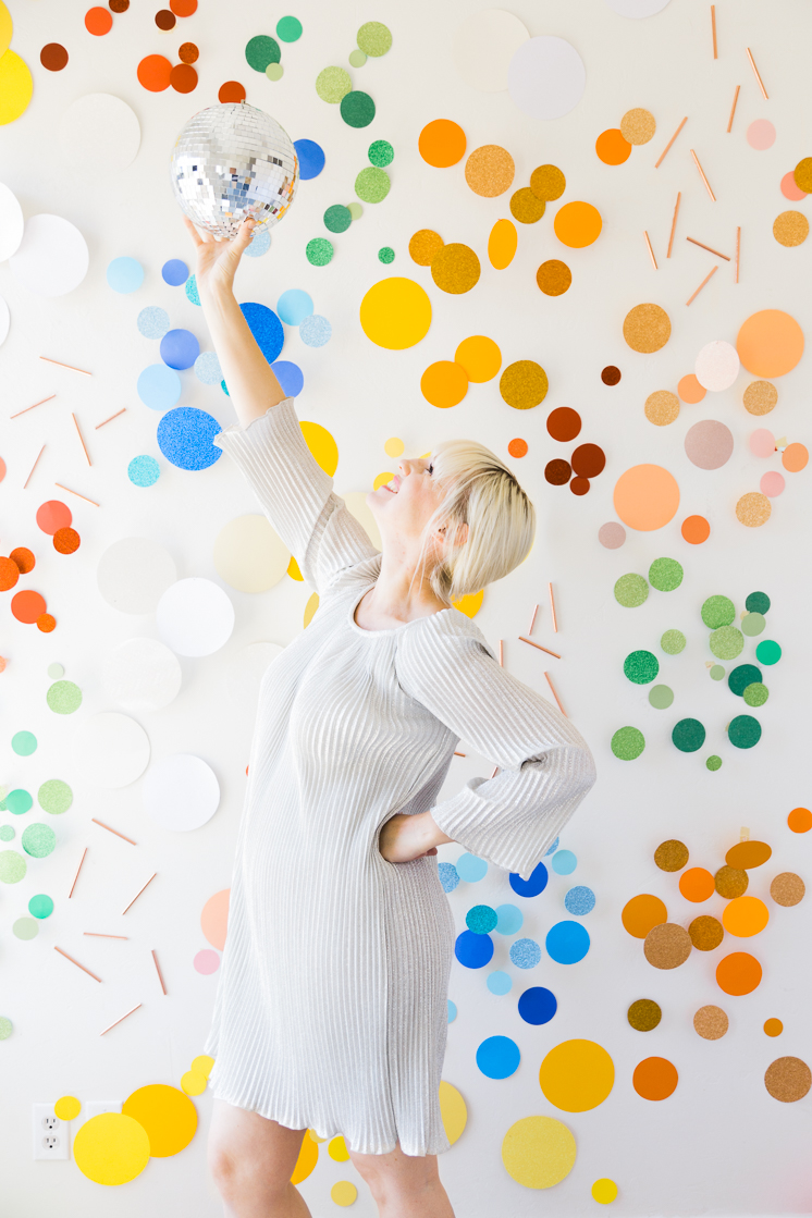Giant Paper Sequin Background