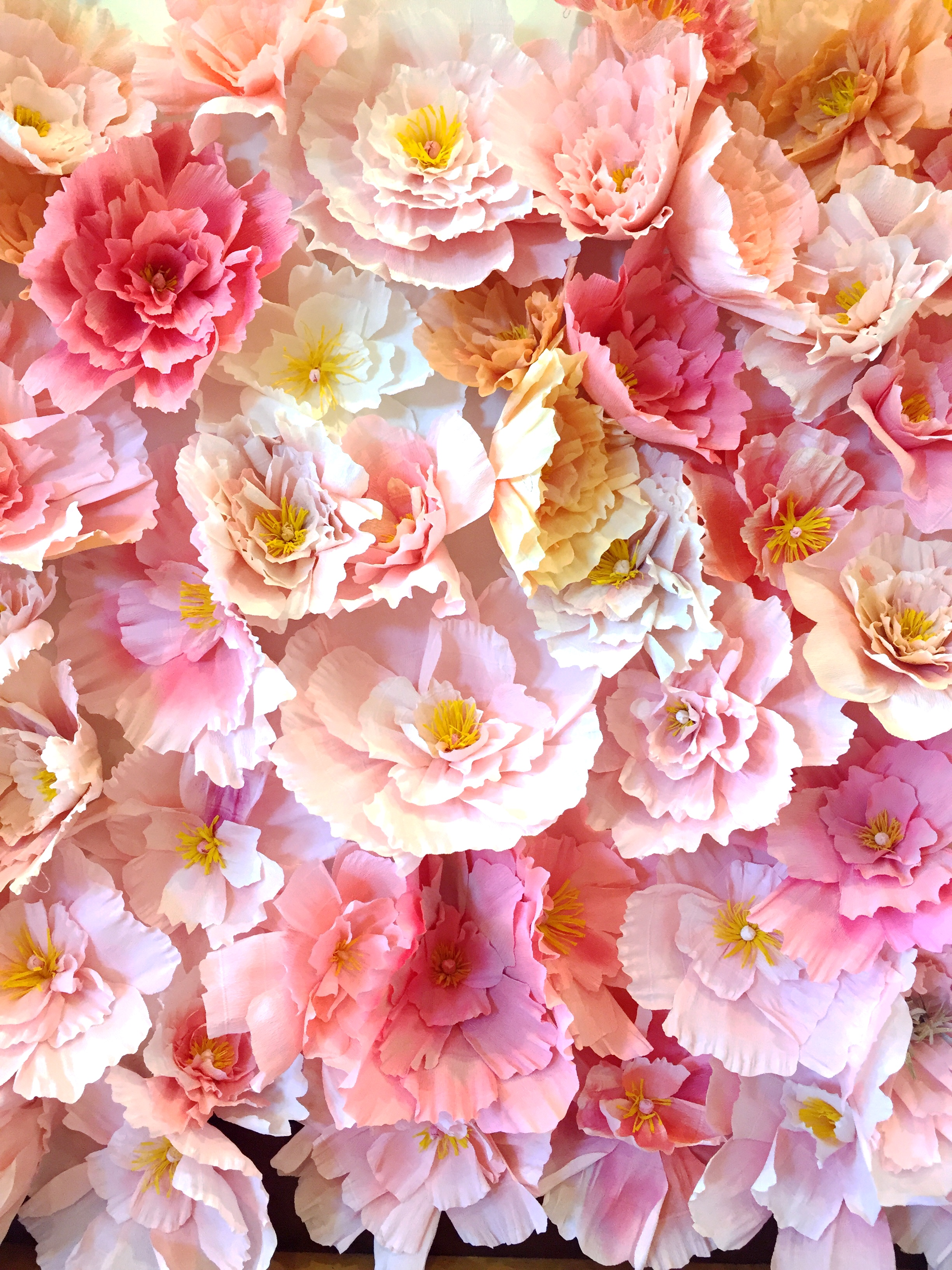 Crepe Paper Peony Wall The House That Lars Built