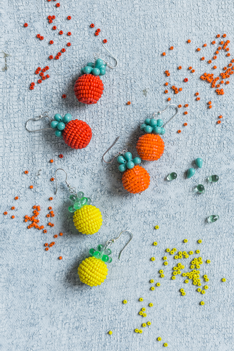 DIY Fruit Earrings