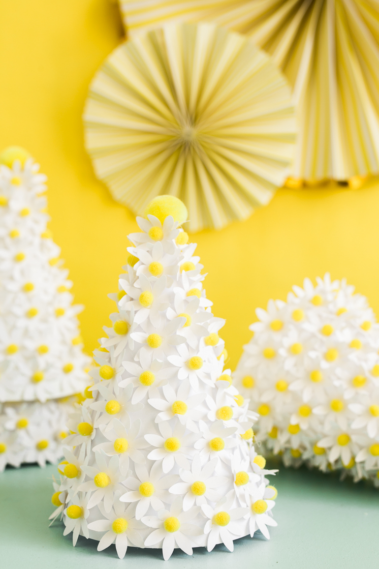 DIY Daisy party hat
