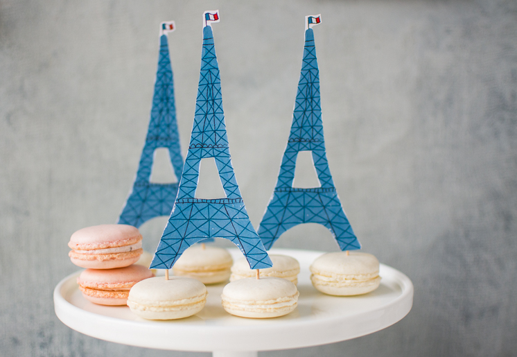 Artifact Uprising Wedding Invitation and Macaron Eiffel Tower favor