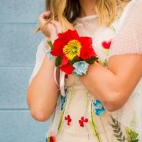 Paper Flower Corsage