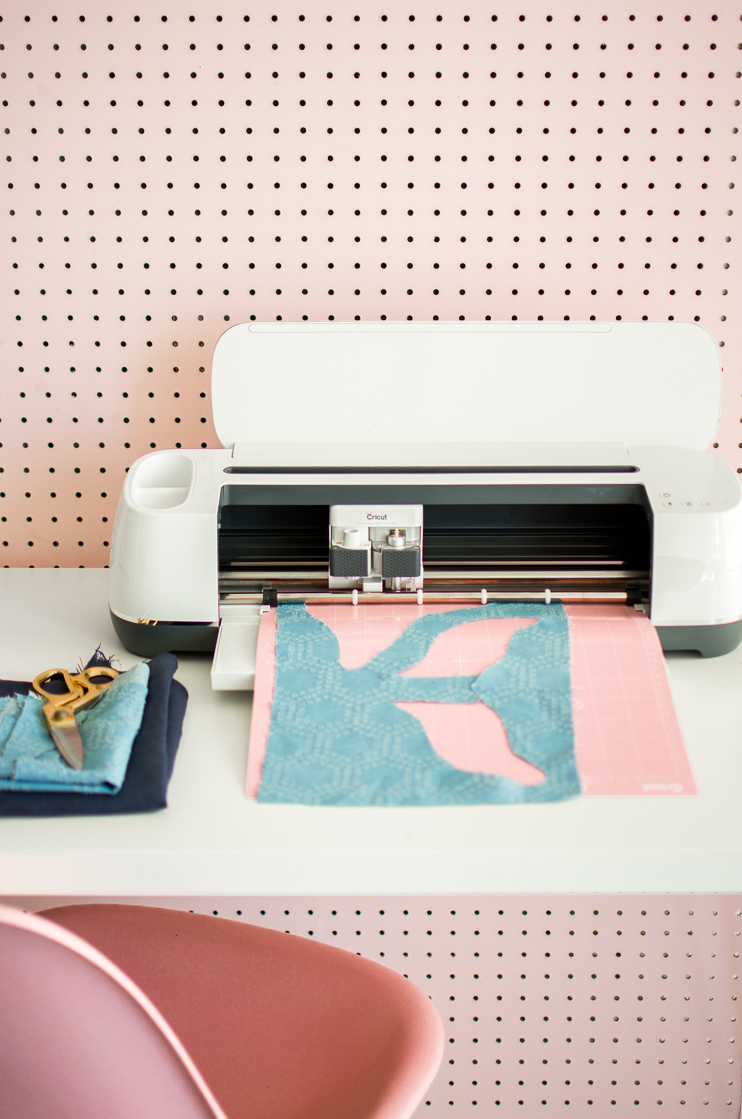 Cricut maker cuts fabric!