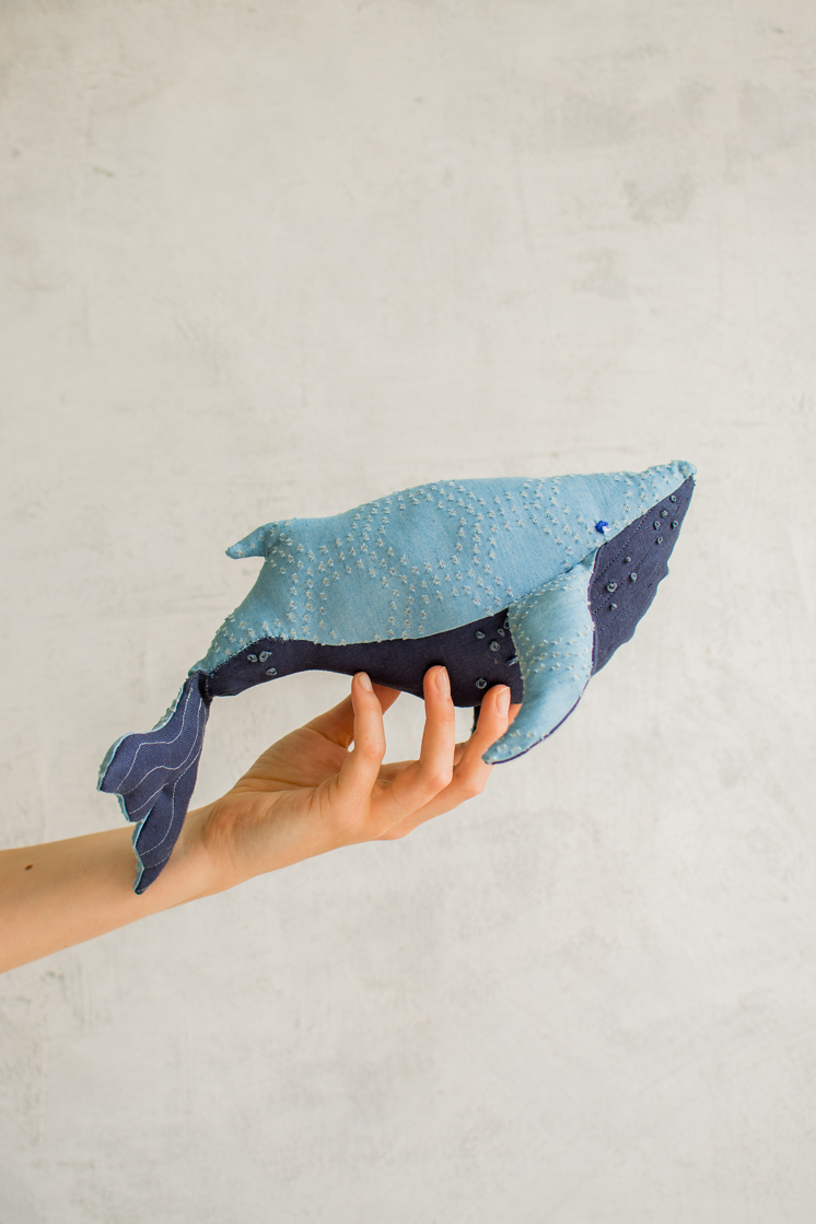DIY stuffed whale with free templates