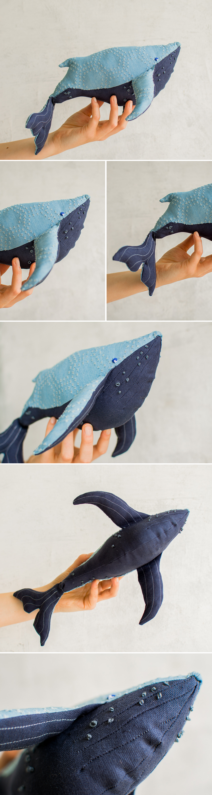 Use these templates to create this DIY stuffed whale