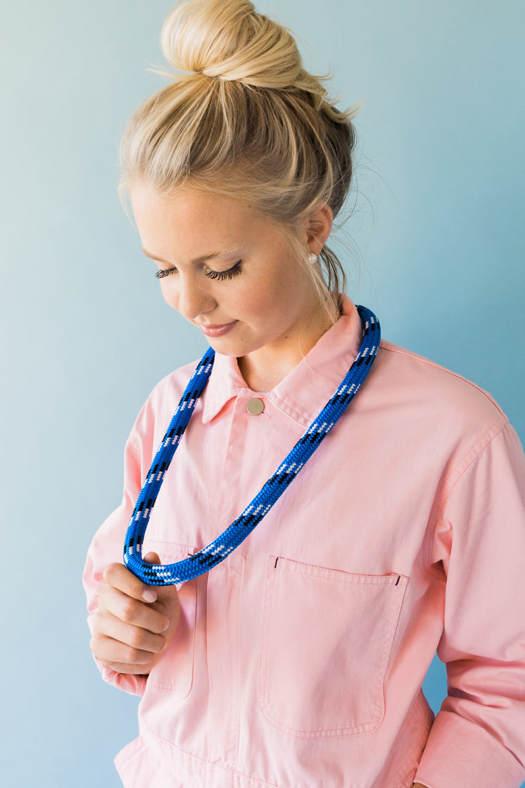 DIY a necklace with items from the hardware store