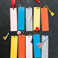 4 techniques for making tassels and poms for bookmarks