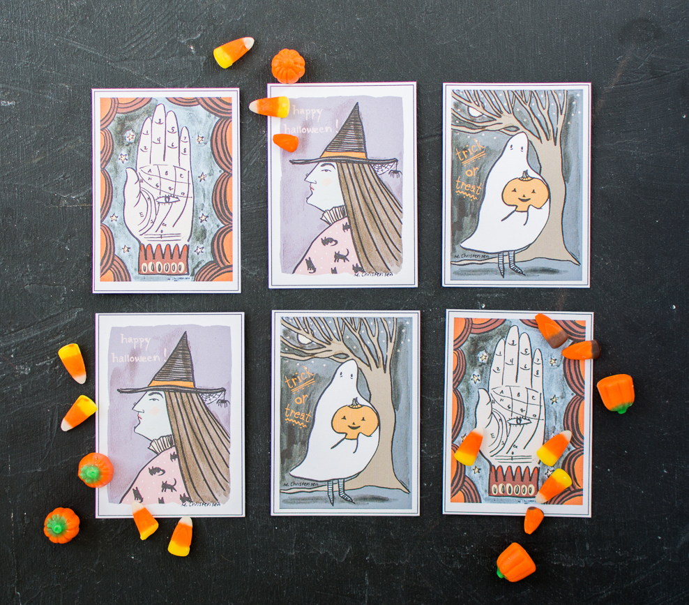 photograph relating to Printable Halloween Cards identified as Printable Halloween Playing cards - The Area That Lars Developed