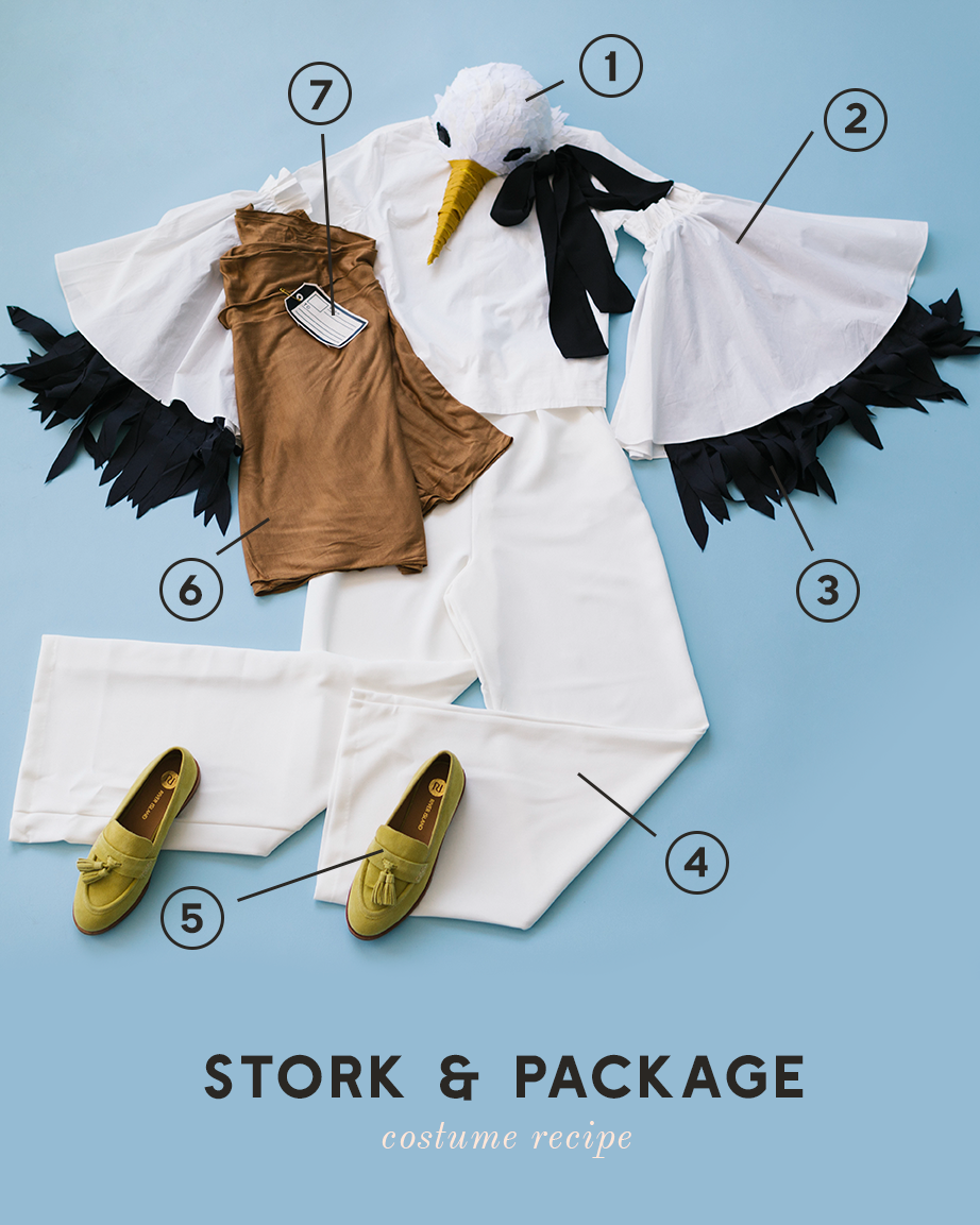 stork and package mommy and baby costume recipe