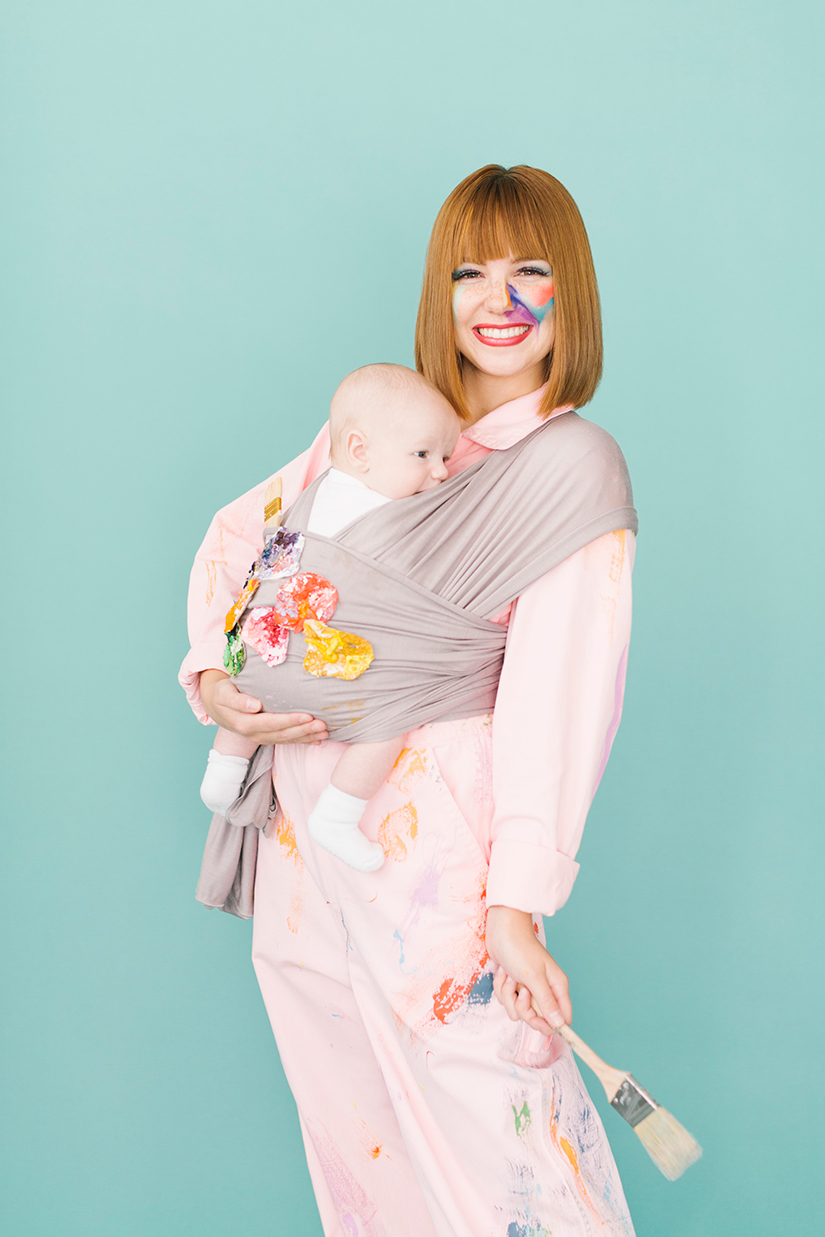 Artist and palette mommy and baby costume