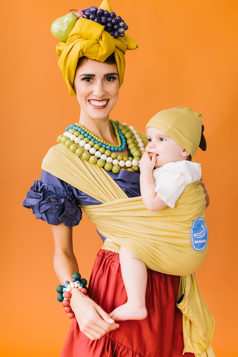 Chiquita and banana mommy and baby costume