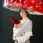 Mushroom and garden gnome baby and mommy costume