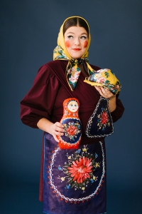 Russian nesting doll mommy and baby costume
