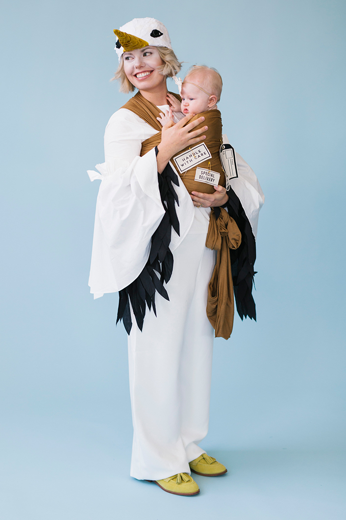 Stork and package mommy and baby costume