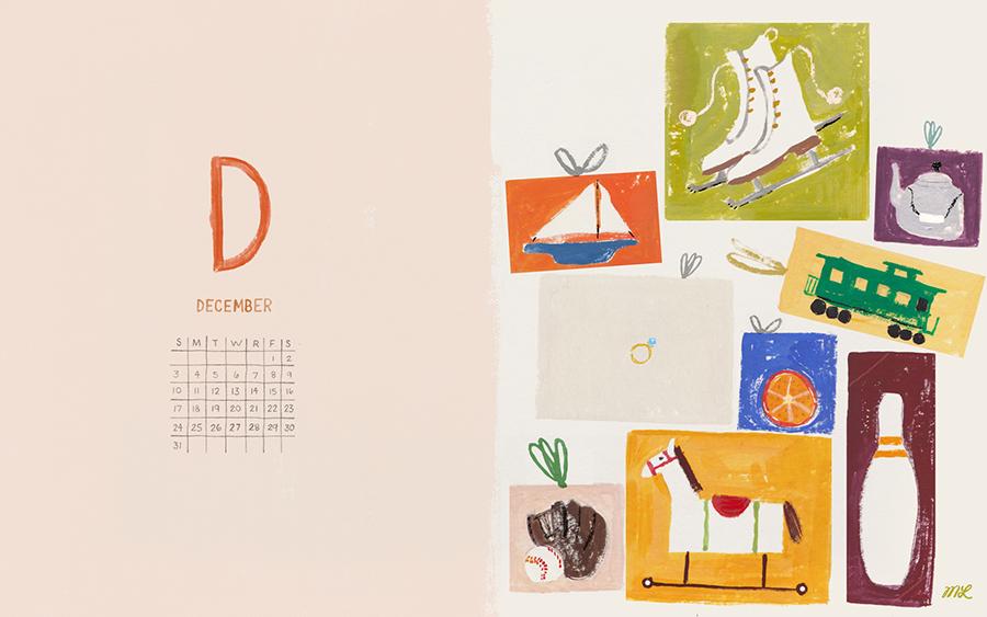 December 2017 Desktop Calendar